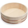 Wooden Hangiri Rice Tub, 12 Inch, Made in Japan