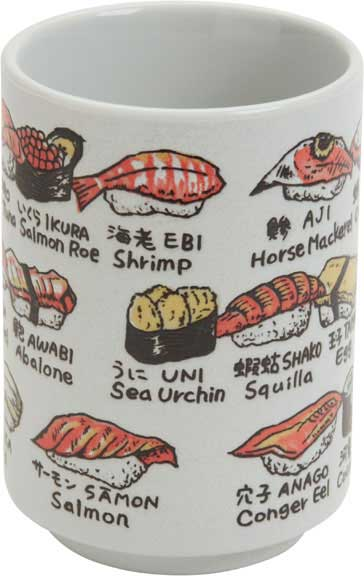 Cup Illustrations of Sushi