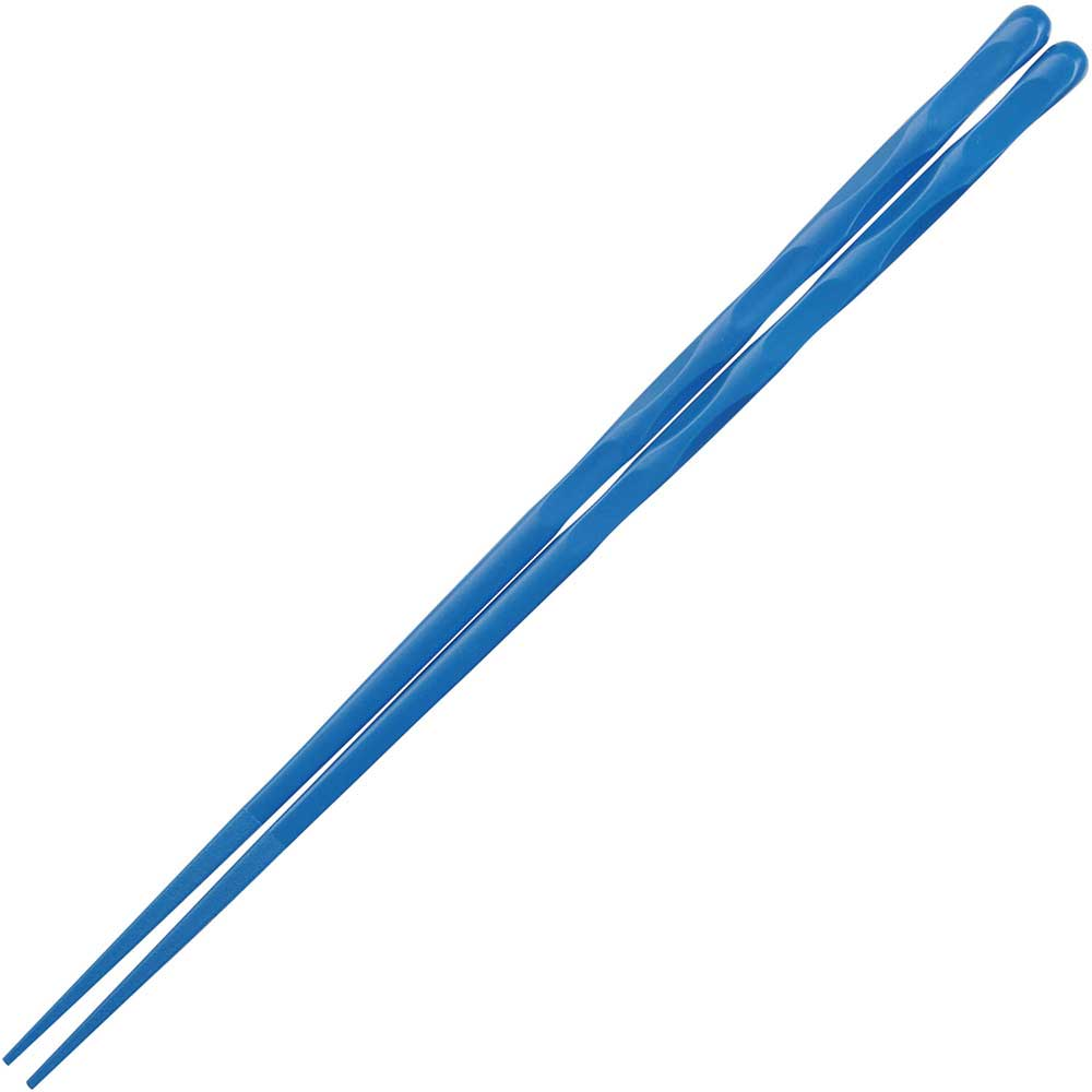 Plastic Eco Blue Scalloped Dishwasher Safe Japanese Chopsticks