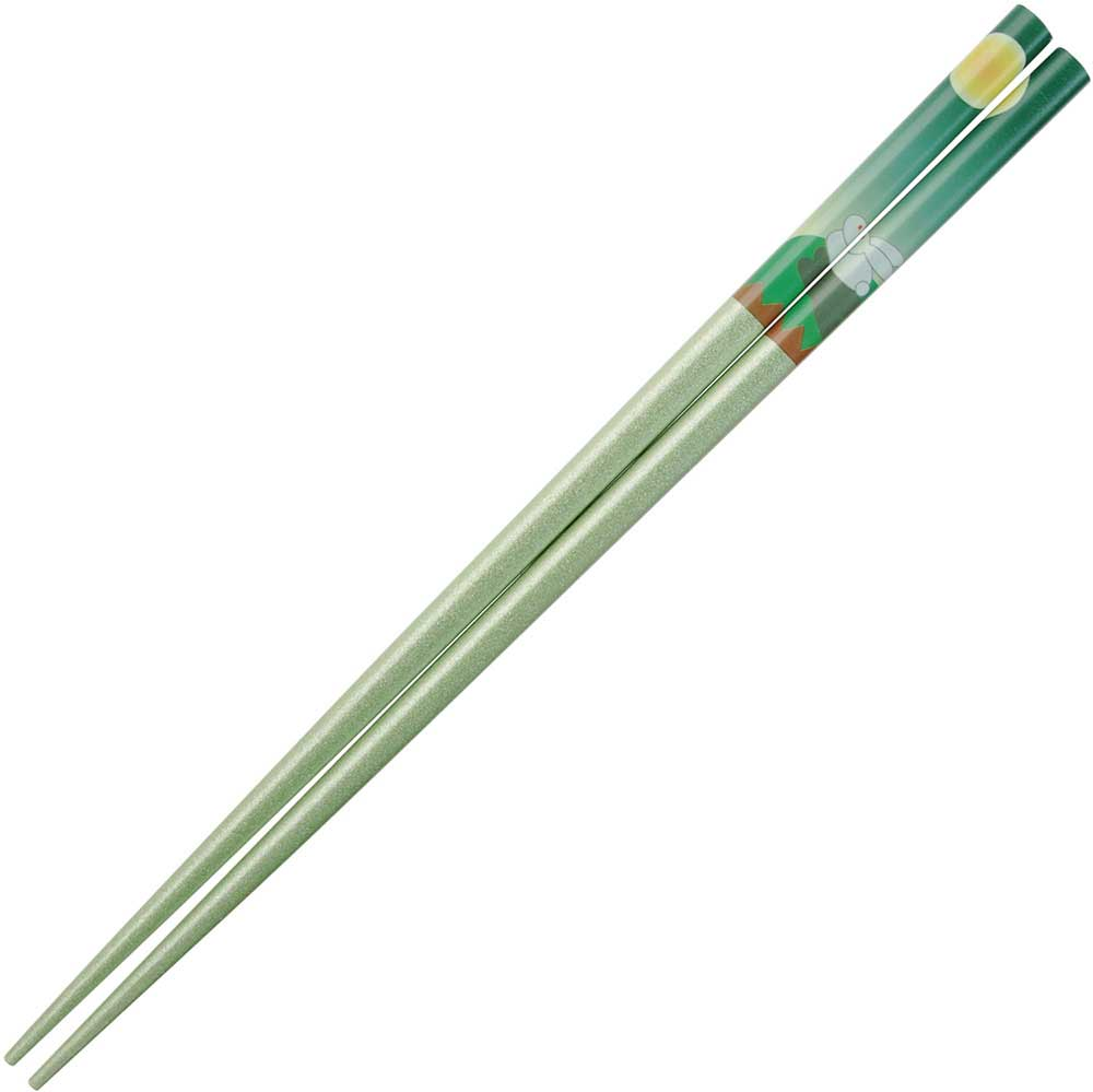 Rabbit and Moon on Pearlescent Green Japanese Chopsticks