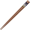 Purple Owl on Medium Wood Japanese Chopsticks