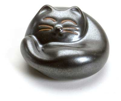 Sleeping Cat Gray Chopstick Rest