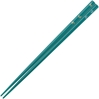 Butterflies of Gold and Silver on Teal Japanese Chopsticks
