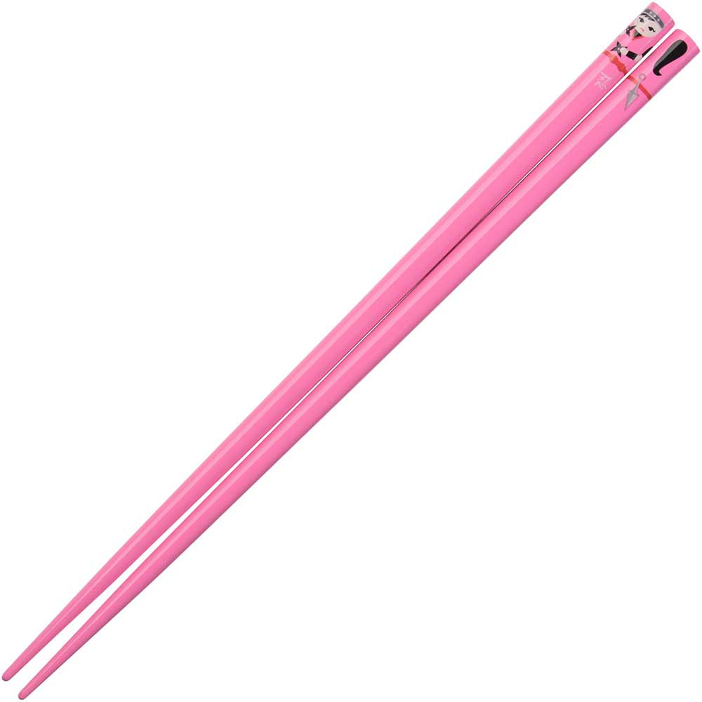 Ninja Girl Whimsical Character on Pink Japanese Chopsticks