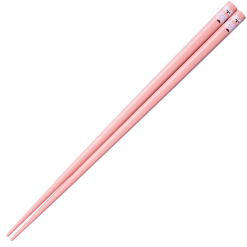 Owl Japanese Chopsticks Pink