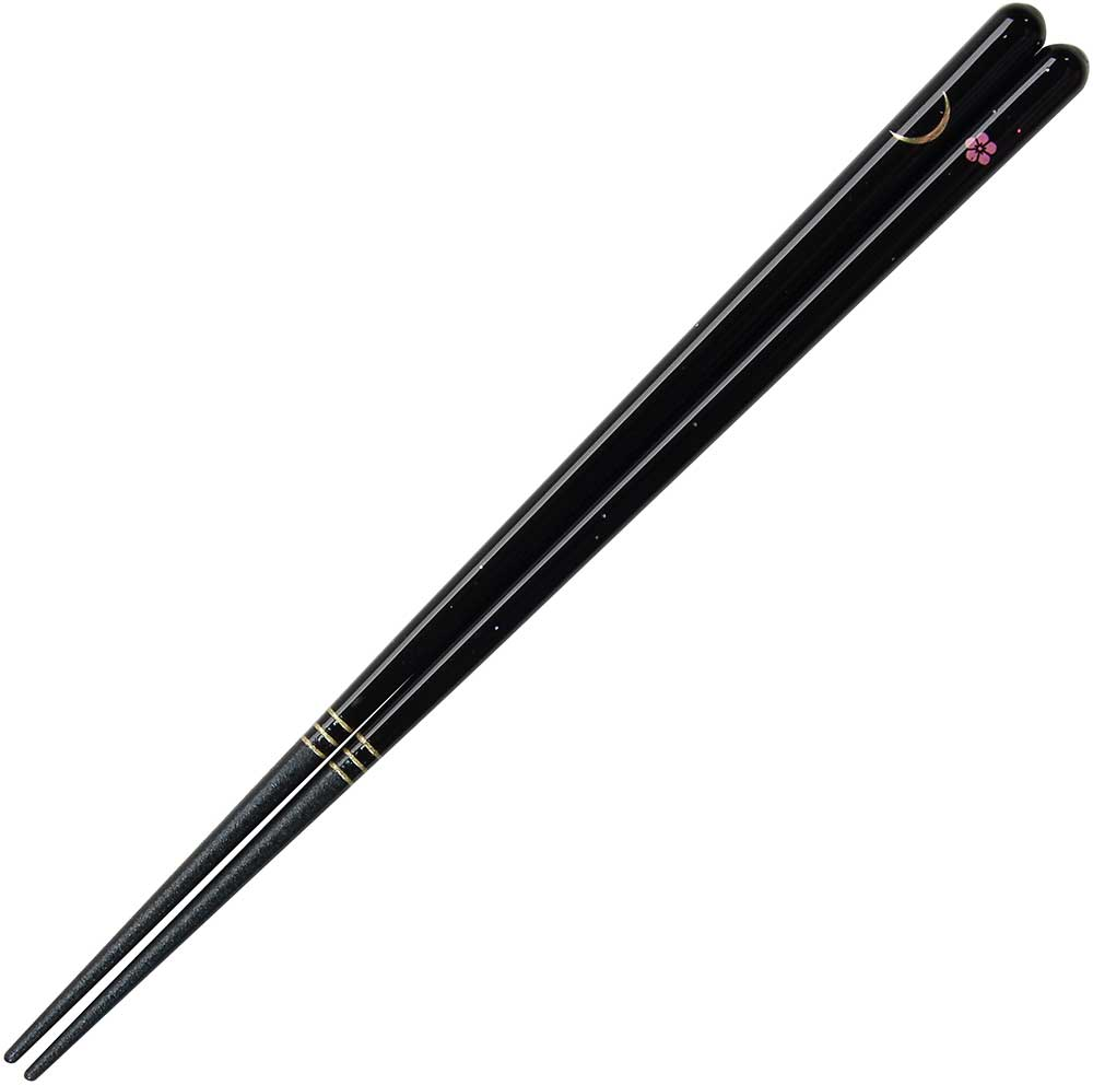 Moon, Sakura and Stars Black Chopsticks