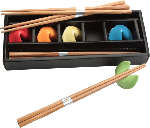 Chopsticks and Colorful Cookie Rests Set