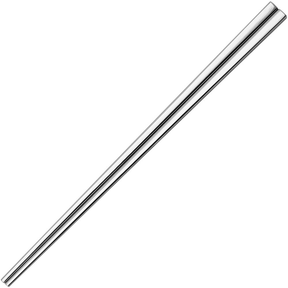 Square Stainless Steel Chopsticks Silver Finish