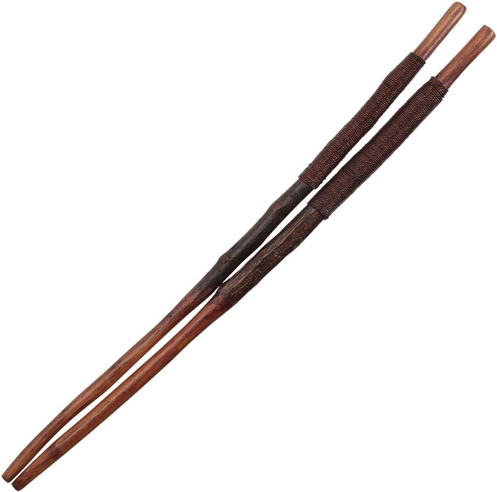 Twig Maroon Chopsticks with Maroon Cord Wrapped Handles
