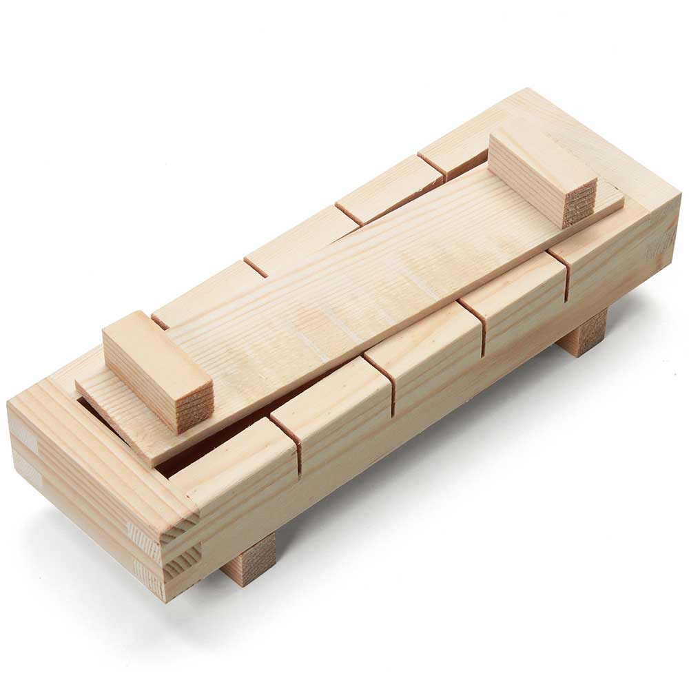 Rectangular Wood Sushi Press