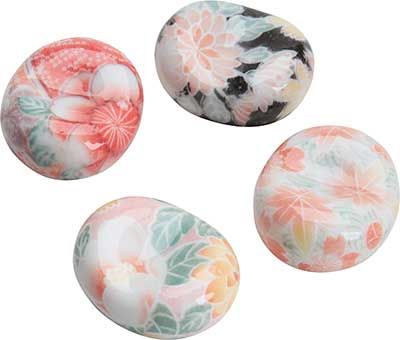 Round Chopstick Rest Assorted Colorful Floral Patterns Round Chopstick Rest Assorted Colorful Floral Patterns